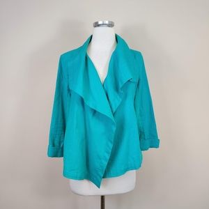 Lucy Travel Perfect Open Front Linen Jacket